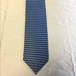 Di Moggio Handmade Silk Tie, Blue